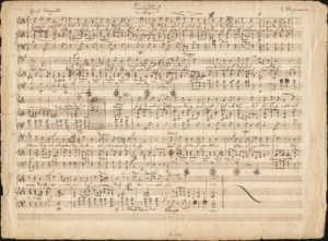 "Felix Mendelssohn Bartholdy: Manuskript des ""Sonntagsliedes"" von Karl klingemann"