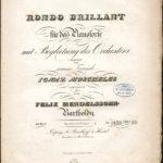 """Titelblatt zum """"Rondo brillant"""", das in Düsseldorf komponiert wurde."""
