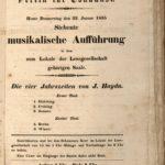 """Konzertplakat des Vereins für Tonkunst vom 22. Januar 1835 zu einer """"Musikalischen Aufführung im Lokale der Lesegesellschaft."""