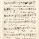 """Musikvereins-Notenarchiv im Heinrich-Heine-Institut: Bass-Stimme zu Mozarts """"Davidde penitente""""."""