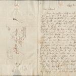 Brief Mendelssohns mit Kuvert vom 26. August 1836 an Ferdinand von Woringen.