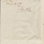 Brief Mendelssohn vom 28.4.1836 2. Seite - an Ferdinand von Woringen