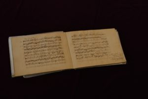 """Felix Mendelssohn Bartholdy: """"Assai tranquillo"""" für Cello und Klavier im Album des Julius Rietz am Tag der Abreise aus Düsseldorf."""