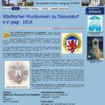 Darstellung des Archivs des Musikvereins im Verbundflyer der Düsseldorfer Archive.
