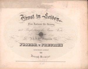 Titelblatt der Komposition von Joseph Kreutzer