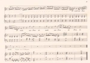 Seite 11 der Komposition von Joseph Kreutzer mit der eigentlich unsingbaren Sopran-Koloratur