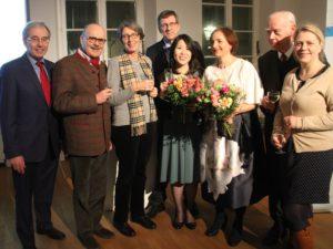 Eröffnung des 9. Tag der Archive im Hetjens-Museum Düsseldorf Familie Dr. Lohausen mit den Musikvereinsmitgliedern Georg Lauer, Udo Kasprowicz und den Künstlerinnen Rie Sakai und Carolina Rüegg.