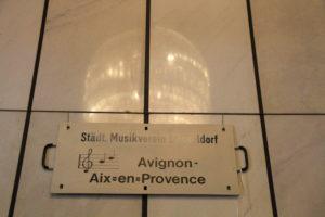 1978 - Bundesbahn-Schild für den Sonderzug nach Aix-en-Provence zum Verdi-Requiem