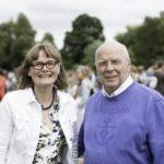 Bürgermeisterin Claudia Zepuntke mit Musikvereinsvorsitzendem Manfred Hill