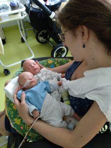 Julieta Gonzalez Torres mit Ihren Zwillingen.
