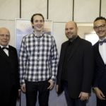 Manfred Hill mit der innovativen Programmierertruppe der Firma Netkotec