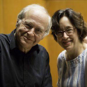Adam Fischer mit Marieddy Rossetto vor der Klavierprobe