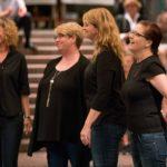 "Der Barber-Shop Chor ""Frisiersalon"" mit den Sängerinnen: Tenor-Ricarda Holtkamp, Lead-Silke Karg, Bariton-Dörte Högner, Bass- Anna Fischer"
