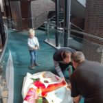 Auch der kleine Enkel des Musikvereinsvorsitzenden, Moritz, war im Einsatz