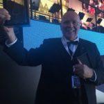 Manfred Hill mit dem Kristallpokal zum Musikfest 2018