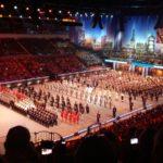 Musikfest der Bundeswehr 2018: Aufstellung zum Finale am 22.9.2018 im ISS-Dome Düsseldorf