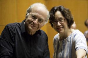 Adam Fischer und Chordirektorin Marieddy Rossetto bei der Klavierprobe © Diesner/Tonhalle