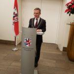 Festakt 200 Jahre Musikverein: Oberbürgermeister Thomas Geisel bei seiner wertschätzenden Rede zum Jubiläum