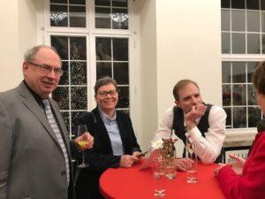 Festakt 200 Jahre Musikverein: MV-Vorstand v.l.n.r. Peter Kraus, Kristina Miltz, Martin Kampmann, Monika Egelhaaf