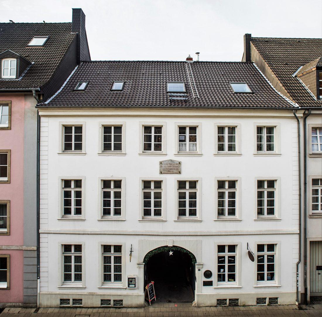 Wohnhaus der Familie Schumann in Düsseldorf, Bilker Str. 15 Foto: Melanie Zanin