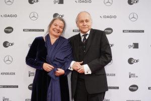 Adam Fischer mit Ruth Legelli-Verleihung des Opus Klassik Preises am 13. Oktober 2019 im Konzerthaus Berlin Foto: Markus Nass