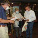 Hans-Peter Hill zieht Gewinner des NC-Preisausschreibens mit Georg Lauer und Udo Kasprowicz